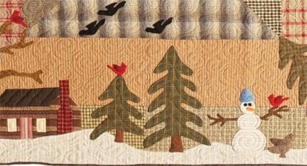 Primitive Folk Art Quilt Pattern Woodland By Fiddlestixdesign
