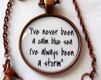 I've Always Been A Storm Pendant Necklace