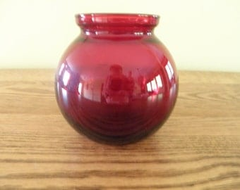Royal Ruby Ball Vase