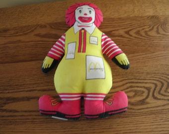 Ronald McDonald Doll 1984