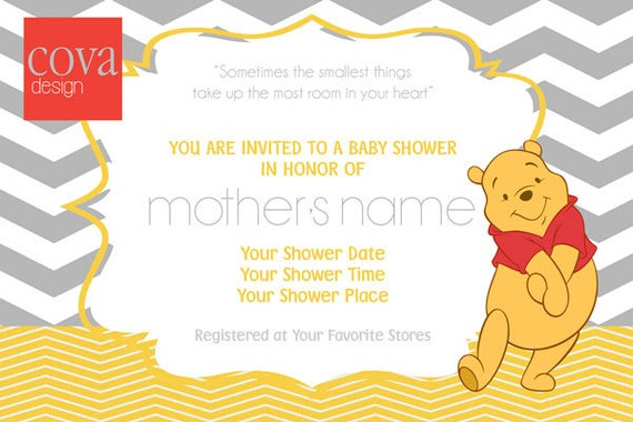 items similar to winnie the pooh baby shower invitation on etsy