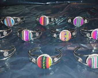 Wholesale  Lot 10 peruvian fabric  textile cuff  Bracelets handmade peru