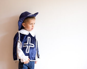Halloween Costume for Toddlers, Musketeer Costume, Children Costume, Party Dress up Costume Costume for Boys or Girls