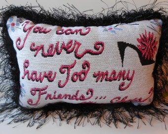 Decorative Pillow Home Decor Accessory Glam Pillow with Writing
