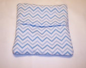 Blue and White Chevron, Medium Sized,  Microwave Potato Bag, Sweet Potato Cooking Bag, Tortilla Warmer, Corn on the Cob Bag