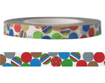 Sales: Colorful Ball Washi / Masking Tape - 6 mm x 15 M