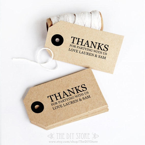 ... Wedding Thank You Tag, Favor Tag, Favour Tag, Hang Tag, Gift Label DIY