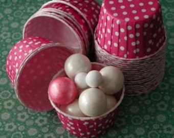 Hot Pink with White Dots Candy Nut Cups are perfect for filling with candy, nuts or other snacks