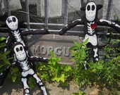 Monkey Bones, Skeleton Sock Monkeys..made to order