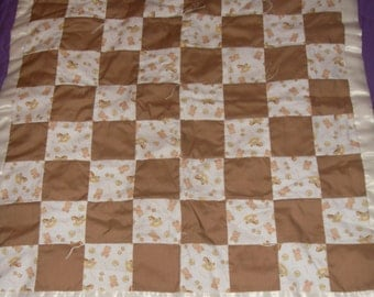 Handstitched Personalized Baby Quilt
