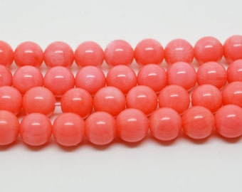 "15"" 8mm  Pink Coral  Gemstone loose round Beads"