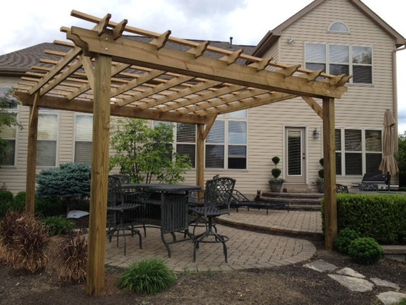 Pergola plans complete plans to build a garden by for Design your own pergola