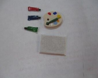 Miniature artist palette