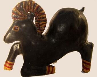 The Black Goat of Mendes Paper Mache Sculpture
