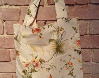 Floral cotton TOTE
