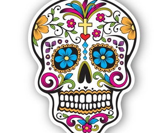 mexican sugar skull sticker