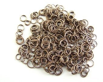 Jump Rings Red Copper Various Sizes 1 oz Jump Rings