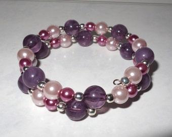 Handmade Glassbead memory wire Bracelets