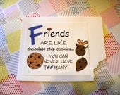 Cookies and Friends go together. Adorable Friendship note card