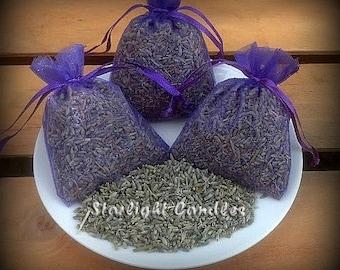 30 - 3x4 Dried Lavender Sachet - Wedding Toss Lavender - 30 Guest Favors - 30 Wedding Favors - Purple Sachets - Wedding Confetti