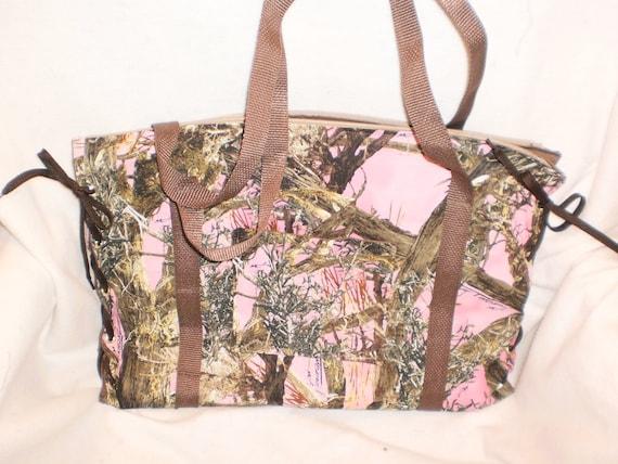 pink mossy oak diaper bag by bagsbyjune on etsy. Black Bedroom Furniture Sets. Home Design Ideas