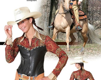 Jalie Horsemanship Bodysuit Sewing Pattern # 2677 Equestrian / Western Style in 22 Sizes for Women & Girls