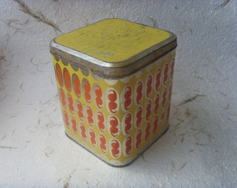 Vintage Soviet Tin Box For Flour or Groats Storage Made in USSR in 1970s
