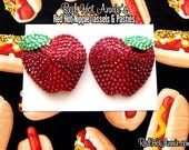 Rhinestone Red Delicious Apples Burlesque Pasties (Red)