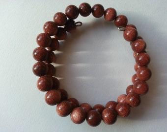 Beautiful Goldstone Wrap Bracelet