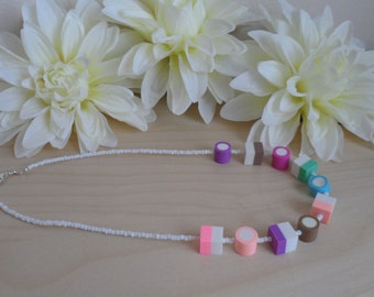 Chunky Dolly Mixture Beaded Necklace.