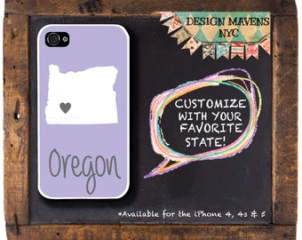 Oregon iPhone Case, Personalized iPhone Case, Fits iPhone 4, iPhone 4s, iPhone 5,  iPhone 5s, iPhone 5c, iPhone 6, Phone Cover, Phone Case