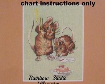 cross stitch chart instructions beatrix potter tom thumb lakeland artist new
