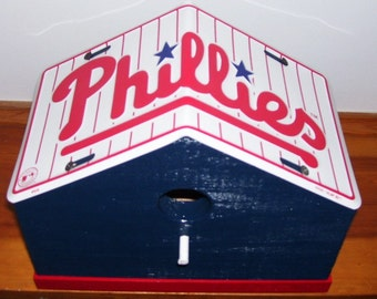 Philadelphia Phillies License Plate Birdhouse, Sports, MLB, Baseball, Birthday, Mothers Day, Christmas Gift