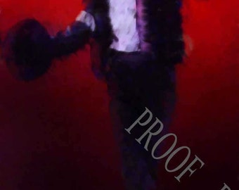 New! Michael Jackson Tribute Print rare 12x18 LE of 50