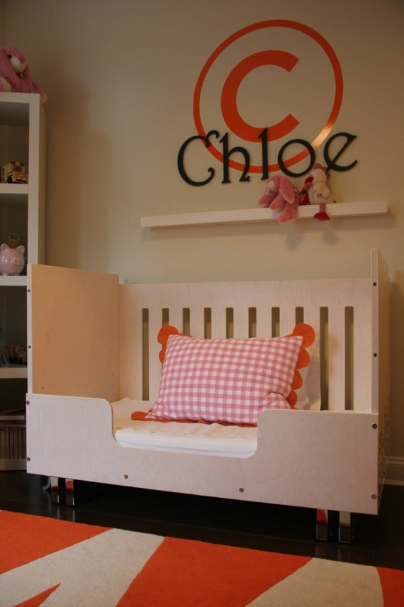 items similar to designer convertible crib toddler bed and