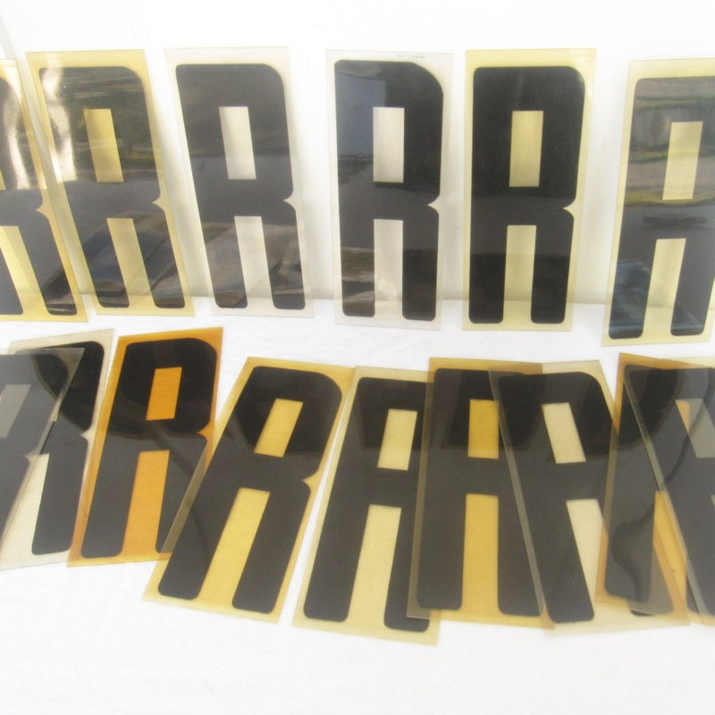 Vintage Acrylic Plastic Sign Letters Black Letter By