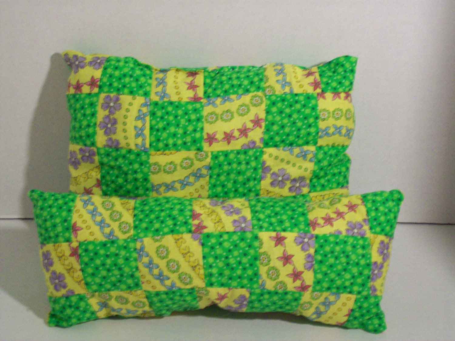 How To Make A Doll Decorative Pillow : Patchwork decorative little girls pillows doll pillows/