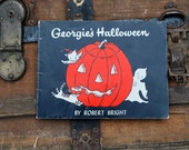 Georgie's Halloween 1958 by Robert Bright, Black, Ghost, Halloween, Orange, Autumn, Fall - vintagetoyshoppe