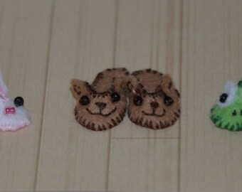 Miniature Slippers for 1/12 dollhouse Teddybear Slippers