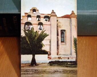 Antique Postcard, Bell Tower, San Gabriel Mission, California 1900s Vintage Paper Ephemera