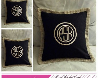 Monogrammed Pillow Covers - Personalized Pillow Cover - Mr. & Mrs. Pillow Cover - Wedding Date Pillow