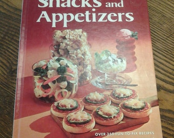 On Sale Better Homes and Gardens Snacks and Appetizers Cookbook 1974