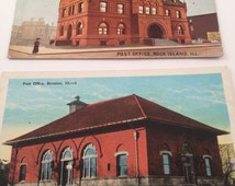 Vintage - Post Office Postcards - 1910's - Collectible