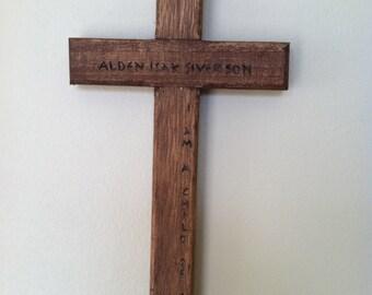 Baptismal Cross - Personalized