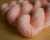 100% Recycled Cashmere Yarn in DK Weight Approx. 269 yards: Light Apricot