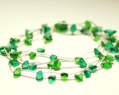 LINFA: necklace glass and rubber closure. You can wear this necklace longer or shorter, as you wish
