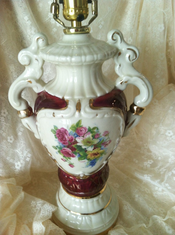 Antique Lamp With Beautiful Hand Painted By