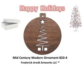 820-4 Mid Century Modern Christmas Ornament