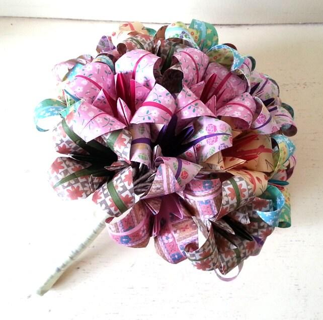 paper flower origami wedding bouquet alternative bride table. Black Bedroom Furniture Sets. Home Design Ideas
