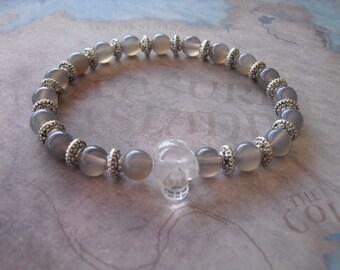 Krystal skull quartz bracelet